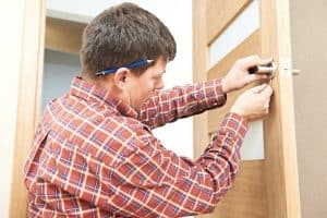 Locksmith in Chester performs a residential door lock repair